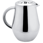 SterlingPro Pear Shape Doublewall Stainless Steel Mirror Finish French Coffee Press