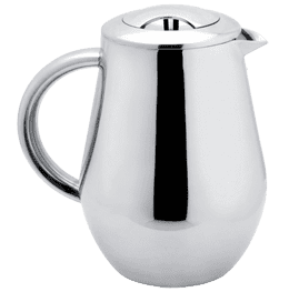 sterlingpro pear shape doublewall stainless steel mirror finish french press