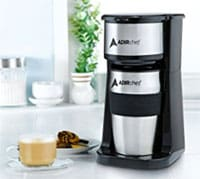 AdirChef Grab N' Go Personal Coffee Maker with 15 oz. with stainless steel Travel Mug