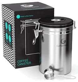 Best coffee storage container - Premium Quality Stainless Steel Coffee Container by Coffee Gator