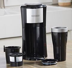Black + decker space saver coffee maker. CM618 single serve coffee maker