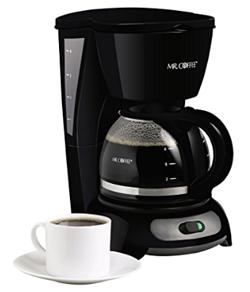 Mr. Coffee 4-Cup Switch Coffee Maker, Black