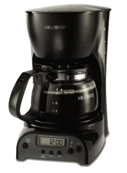 Mr Coffee 4 Cup Programmable Digital Coffee Maker DRX5 - Pack with useful features and save you space