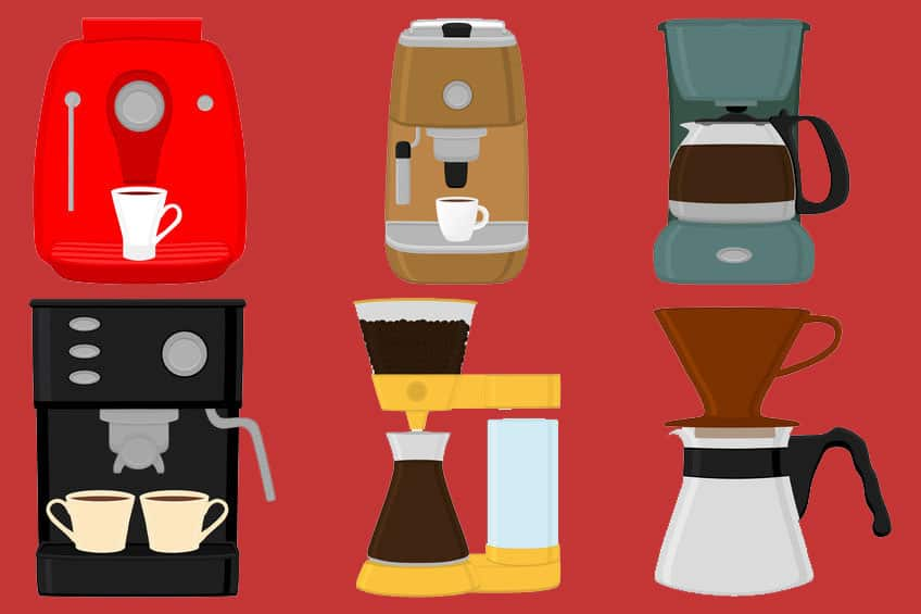 different types of top rated coffee makers